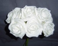 Foam Rose - Large Bud - Cream