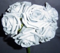 Foam Rose - Large Bud - Grey