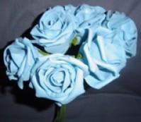 Foam Rose - Large Bud - Turquoise