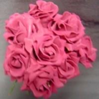 Foam Rose - Mini Bud - Magenta