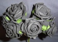 Foam Rose - Medium Bud - Black