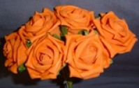 Foam Rose - Medium Bud - Orange