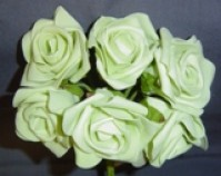 Foam Rose - Large Bud - Pale Green