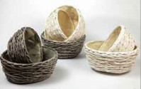 Round - Oval Nesting Wicker Bowls