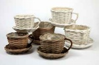 Wicker Cup and Saucer - Natural