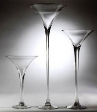 Clear Martini Vase