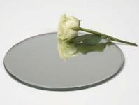 Round Mirrored Plate