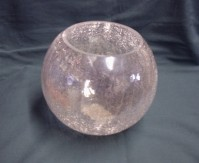 Glass Fish Bowl - Misto - Crackle Iridescent
