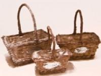 Rectangular Fleurs Basket