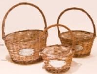 Round Fleurs Basket