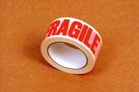 Adhesive Vinyl Tape - White - Printed FRAGILE