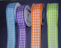 Wired Edge Satin - Checks - 40mm x 9m