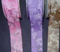Wired Edge Taffeta - Floral - 40mm x 20m