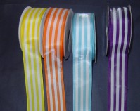 Wired Edge Satin - Striped - 40mm x 9m