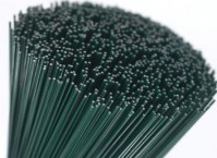 Stub Wire - Green Lacquered-18swg
