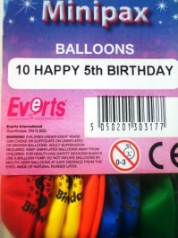 Balloons Latex Birthday Minipax