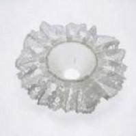 Lace Bouquet Frill - White