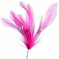 Flutters - Feather and Diamonte Spray