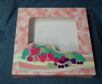 Window Box - Fruit Design - Packs of 10 Boxes - 8 x 8 x 1.5 inches