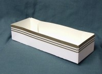 Gold Line Quick Service Tray - Packs of 10 Trays 9.25 x 3.25 x2 inches