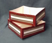 Select Wavy Line Tray - Packs of 10 Boxes - 6 x 6 x 2.25 inches