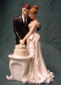 Cake Topper - Cutting the Cake