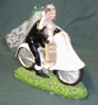Cake Topper - Bride and Groom on a Bicycle