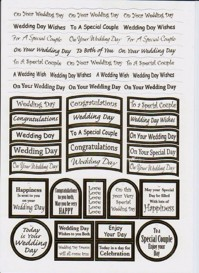 Wedding Day Foil Captions