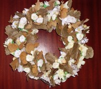 Spring Flower and Twig Wreath 25cm
