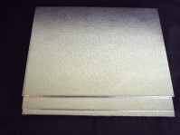 Double Thick Silver Cake Boards - Rectangular