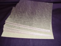 Cut Edge Silver Cake Cards - Square