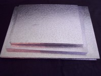 Single Thick Silver Cake Boards - Rectangular