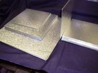 Double Thick Silver Cake Boards - Square