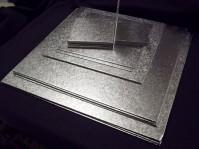 Single Thick Silver Cake Boards - Square