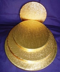 Cake Drums Round - Gold