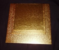 Double Thick Gold Cake Boards - Square