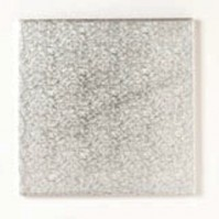 Double Thick Hardboard Silver Cake Cards - Square