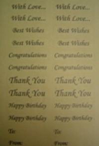 Paper Stickers - Thankyou
