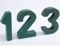 Foam Frame Numbers 0 to 9