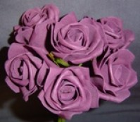 Foam Rose - Medium Bud - Aubergine