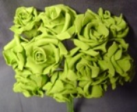 Foam Rose - Mini Bud - Dark Green