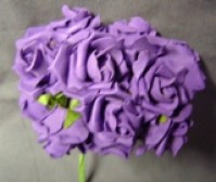 Foam Rose - Mini Bud - Cadbury Purple