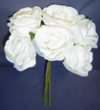 Foam Rose - Open Crinkle - Cream