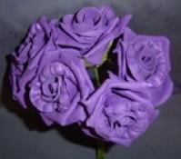 Foam Rose - Large Bud - Cadbury Purple