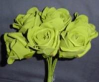 Foam Rose - Large Bud - Dark Green
