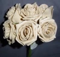 Foam Rose - Large Bud - Coffee