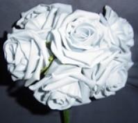 Foam Rose - Large Bud - Grey
