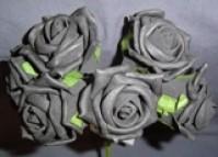 Foam Rose - Medium Bud - Black