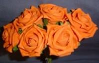 Foam Rose - Medium Bud - Orange