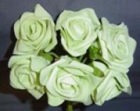 Foam Rose - Large Bud - Pale Green